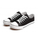 Low Top Sneaker Lace-up Classic Casual Shoes Black and White